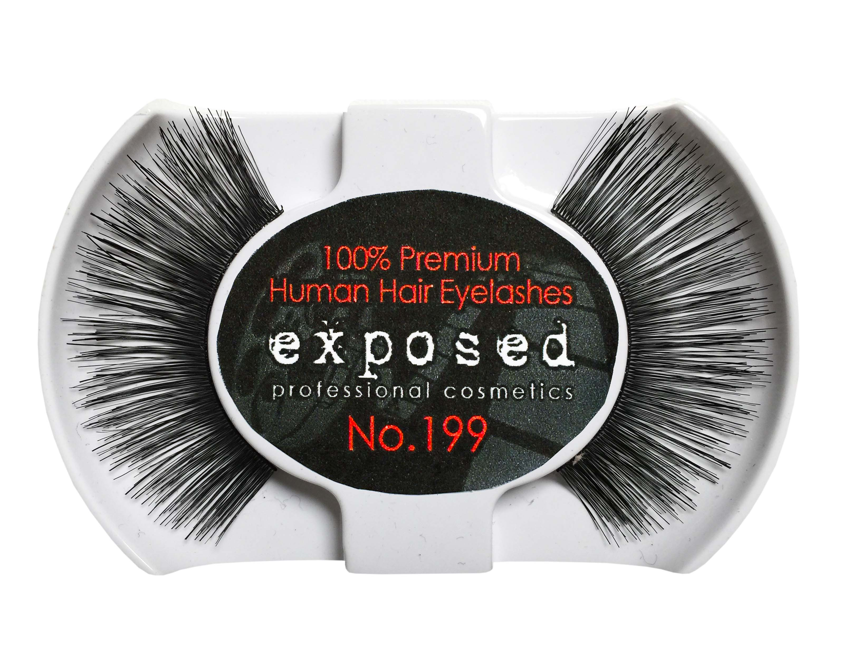 Exposed Cosmetics Human Hair False Eyelashes