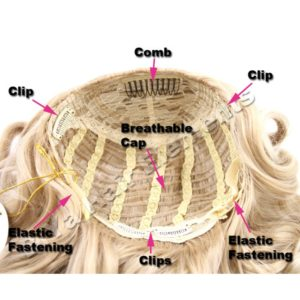 BiYa Half Head Wig (3/4 wig) – Wavy – Colour 1