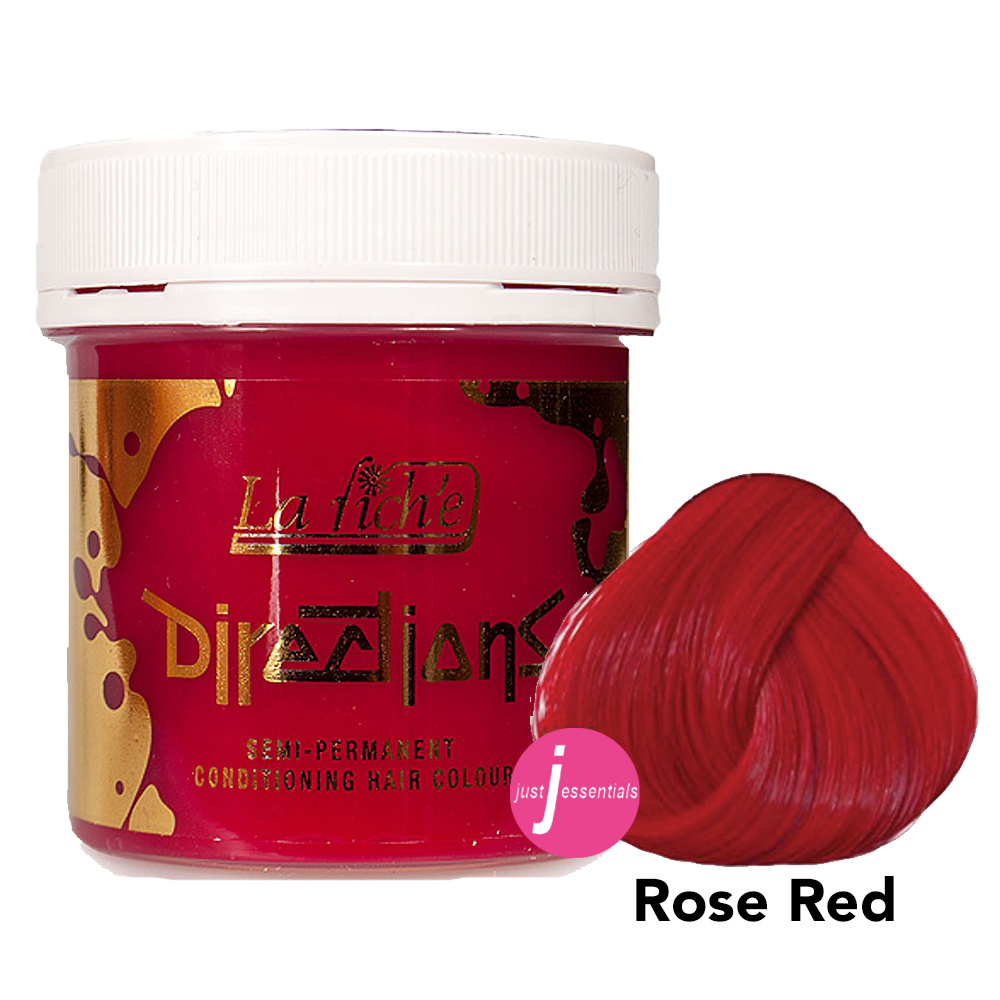directions hair dye rose red just essentials. Black Bedroom Furniture Sets. Home Design Ideas