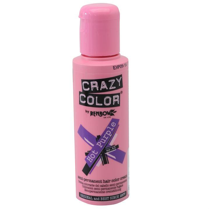 Crazy Color Hair Dye Hot Purple Just Essentials