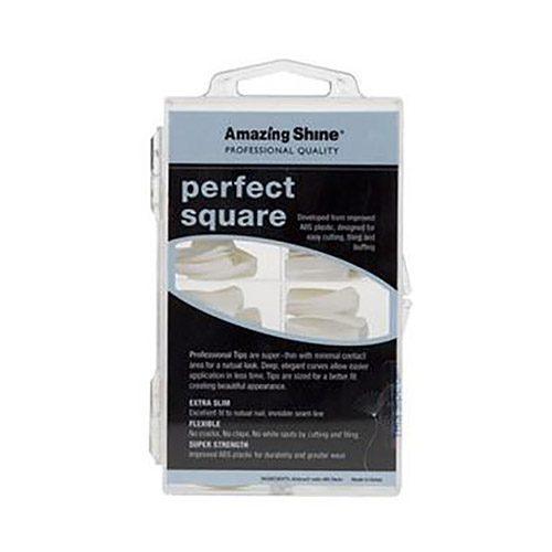Amazing Shine Perfect Square Nail Tips - White