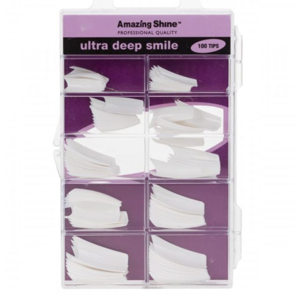 Amazing Shine Ultra Deep Smile Nail Tips - White