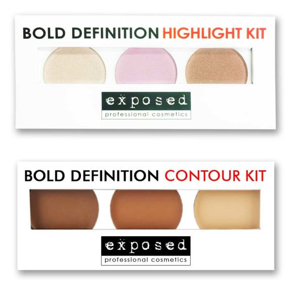 Exposed Cosmetics - Bold Definition Highlight & Contour Kit Duo