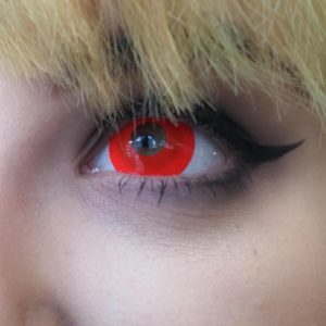 Red Mini Sclera Halloween Lenses – MesmerEyez