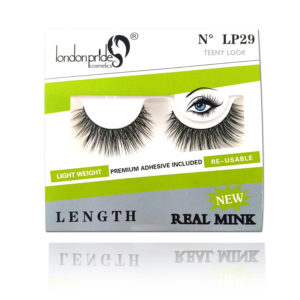 London Girl Lashes – Real Mink – Teeny Look