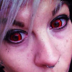 MesmerEyez Mini Sclera Coloured Eyewear – Red Rage