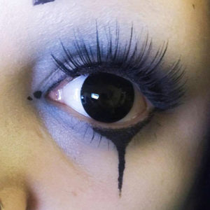 Black Mini Sclera Halloween Lenses – MesmerEyez