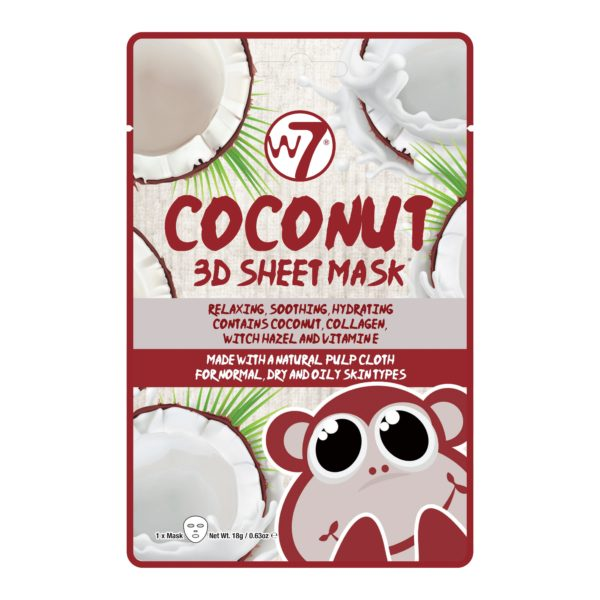 W7 3D Sheet Mask - Coconut