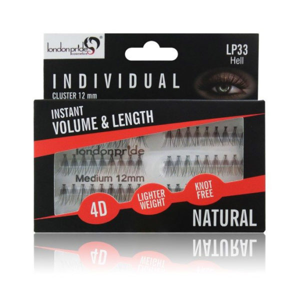 London Pride Individual Cluster Eyelashes - 12mm Medium