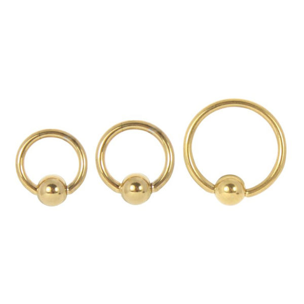 Ball Closure Ring - PVD Gold