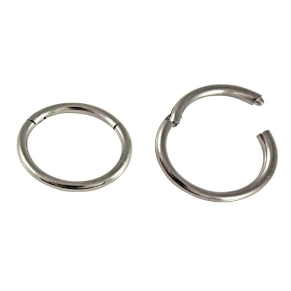 Hinged Segment Ring - Polished Titanium