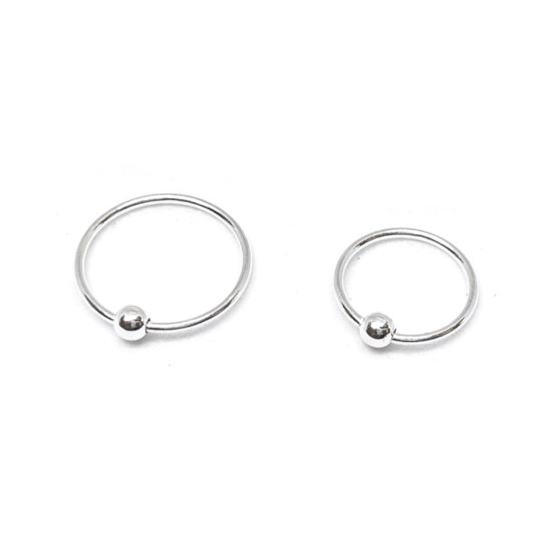 Ball Nose Ring - Sterling Silver