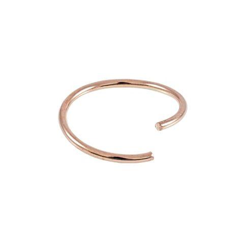 Twist Nose Ring - Rose Gold