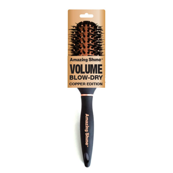 Amazing Shine Professional Volume Blow Dry Brush - Copper Edition