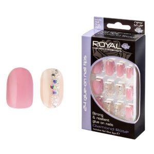 Royal Cosmetics - False Nails - Vin Rouge Coffin - Just