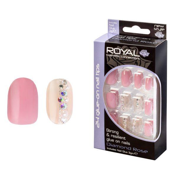 Royal Cosmetics False Nails -Diamond Rose