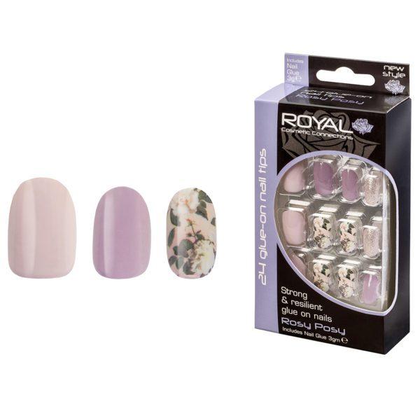 Royal Cosmetics False Nails - Rosy Posy