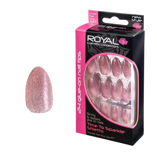 Royal Cosmetics False Nails - Time To Sparkle Stiletto