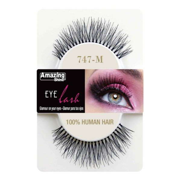 False Eyelashes - 100% Human Hair No. 747M by Amazing Shine