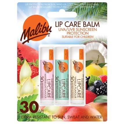 Malibu Lip Care Balm Trio - SPF 30