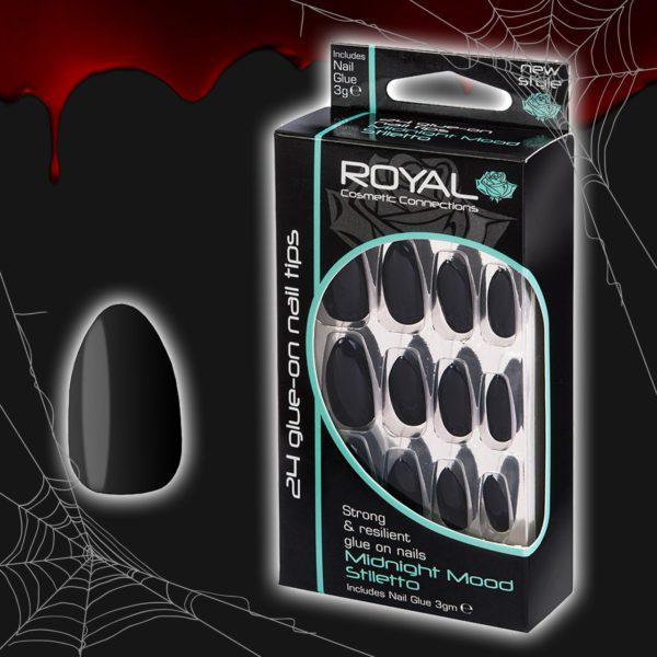 Stiletto False Nails - Midnight Mood - Royal Cosmetics