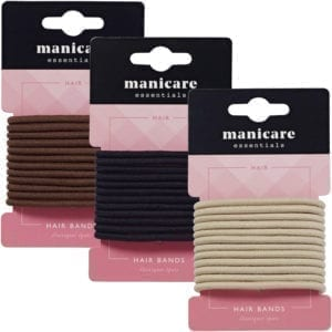 Manicare 12 Thick Hair Bands - Black