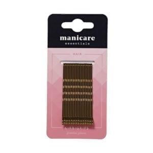 Manicare Brown Kirbigrips 6.4cm (18 pack)