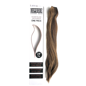 One Piece 24″ Long Hair Extension by Exposed Luxury Hair