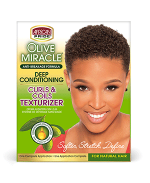 African Pride Olive Miracle Curls & Coils Texturizer Kit