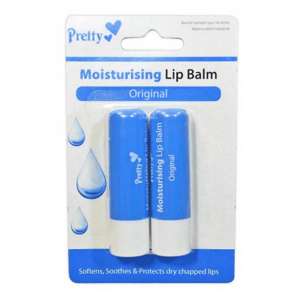 Pretty Moisturising Lip Balm – Original Twin Pack