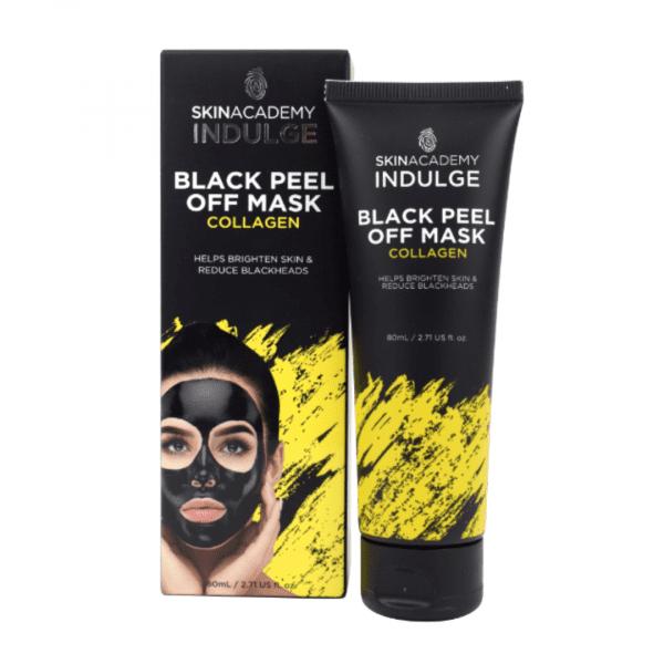 Skin Academy Indulge Black Peel Off Mask – Collagen